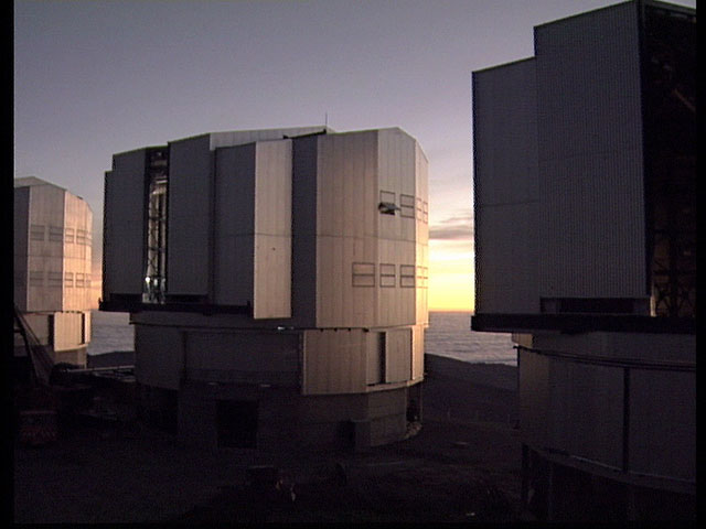 Sunset at the Paranal Platform